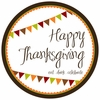 Happy Thanksgiving Banner Melamine Plate