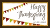 Happy Thanksgiving Banner Placemat