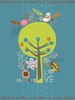 Happy Tree Love Nature Canvas Wall Art