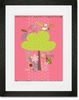Happy Tree Love Nature Pink Framed Art Print