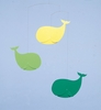 Happy Whales Mobile in Green & Yellow