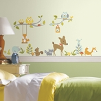 Happy Woodland Friends Wall Decals