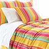 Happy Yellow Stripe Standard Sham