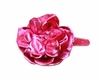 Hard Sequin Headband in Raspberry Rose with Metallic Raspberry Rose Flower