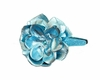 Hard Sequin Headband in Teal Rose with Metallic Teal Rose Flower
