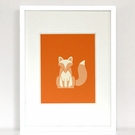 Harlequin Fox Art Print