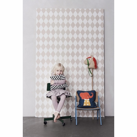 Harlequin Kids Wallpaper in Rose