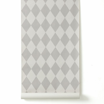 Harlequin Wallpaper in Light Grey