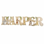Harper Jungle Animals Hand Painted Wall Letters