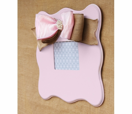 Harper Pink Scalloped Wall Frame
