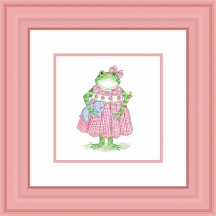 Hattie Froggy Framed Lithograph