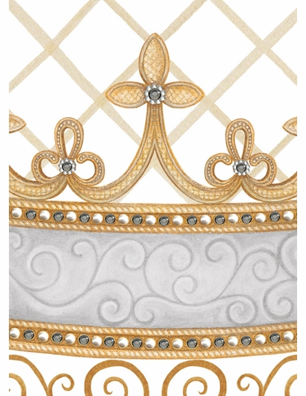 Haute Princess Crown Personalized Wall Hanging in Gustavian Grey