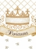 Haute Princess Crown Personalized Wall Hanging in Ivory Bisque