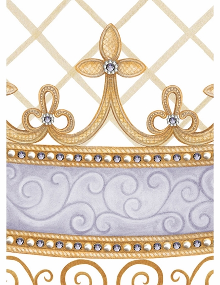 Haute Princess Crown Personalized Wall Hanging in Lovely Lavender