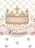 Haute Princess Crown Personalized Wall Hanging in Posey Pink