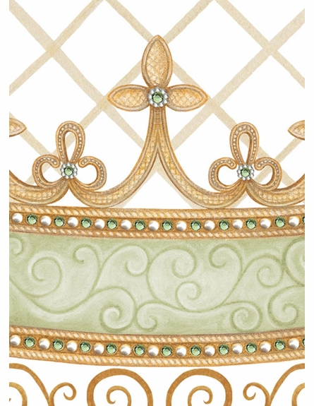 Haute Princess Crown Personalized Wall Hanging in Provence Green