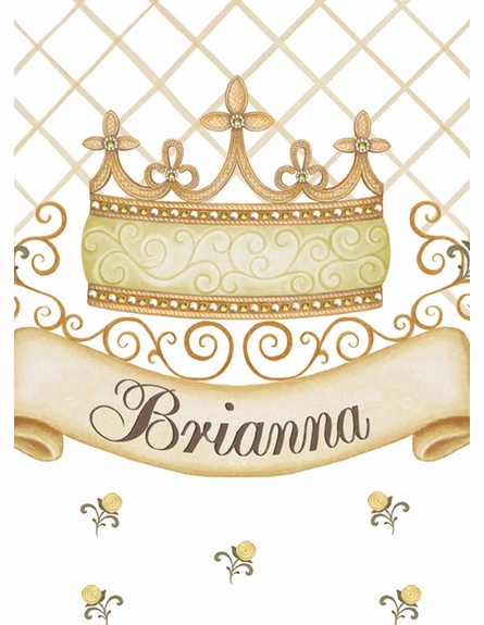 Haute Princess Crown Personalized Wall Hanging in Sunshine Yellow