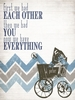 Have Everything Blue Canvas Wall Art