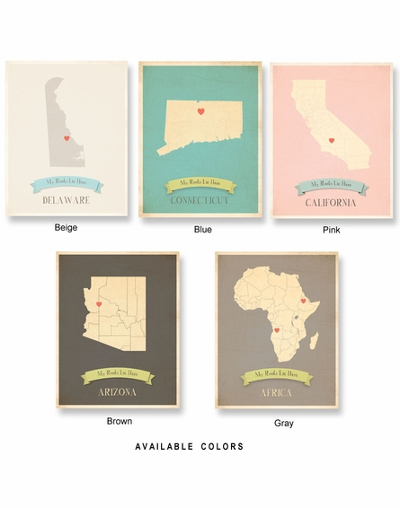 Hawaii My Roots State Map Art Print - Blue