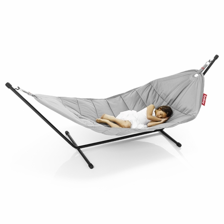 Fatboy Headdemock In Light Grey with Black Rack Beanbag