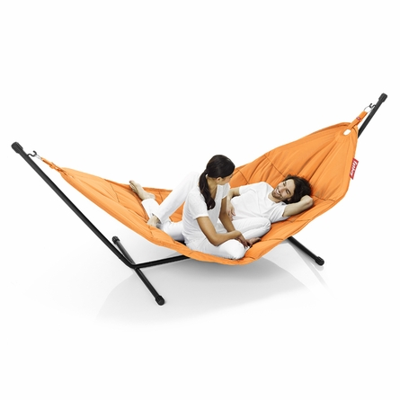 Headdemock Beanbag In Orange With Black Rack