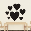 Heart Chalkboard Wall Decal - Set of 7