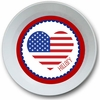 Heart Fourth of July Personalized Melamine Bowl