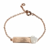 Heart Lovely Id Bracelet in Gold Plated