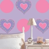 Heart of Hearts Dot Wall Decals - Purple