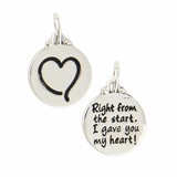 Heart - Right from the start I gave you my heart Charm CN211 $(+14.00)