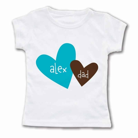 Heart To Heart Dad Personalized T-Shirt