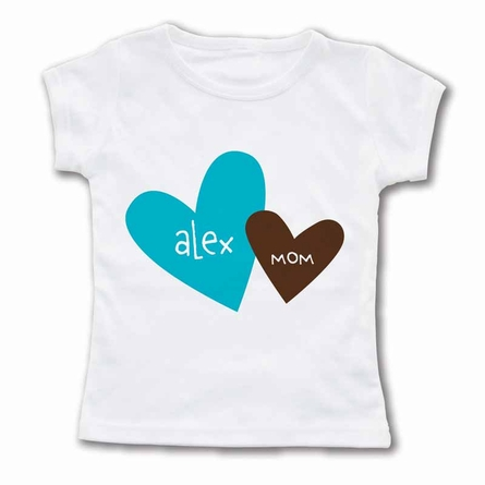 Heart To Heart Mom Personalized T-Shirt