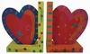 Hearts Wooden Bookends