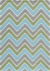 Heavenly Chevron Blue Rug