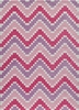 Heavenly Chevron Pink Rug