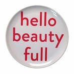 Hello Beauty Full Melamine Plate - Set of 4