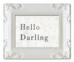 Hello Darling Decorative Framed Art Print