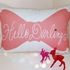 Hello Darling Throw Pillow