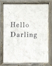 Hello Darling Vintage Framed Art Print