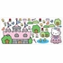 Hello Kitty Princess Castle Peel & Stick Applique