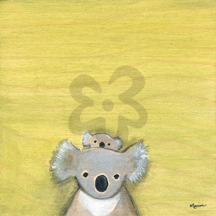 Hello Koala Canvas Wall Art