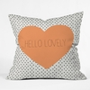 Hello Lovely Throw Pillow