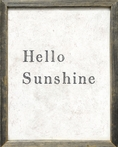 Hello Sunshine Vintage Framed Art Print