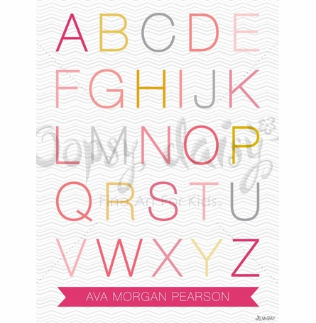 Helvetica ABC Girl Canvas Wall Art