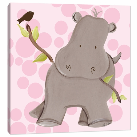 Henrietta Hippo in Pink Canvas Reproduction