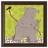 Henry Hippo in Green Canvas Reproduction