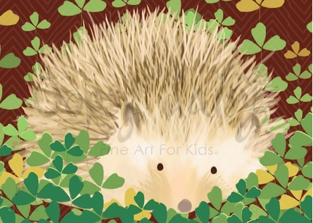 Henry the Hedgehog Canvas Wall Art