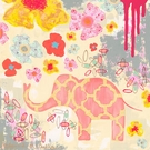 Herbaceous Elephant Canvas Wall Art