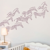 Herd of Zebras in Prune Wall Decal