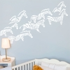 Herd of Zebras in White Wall Decal